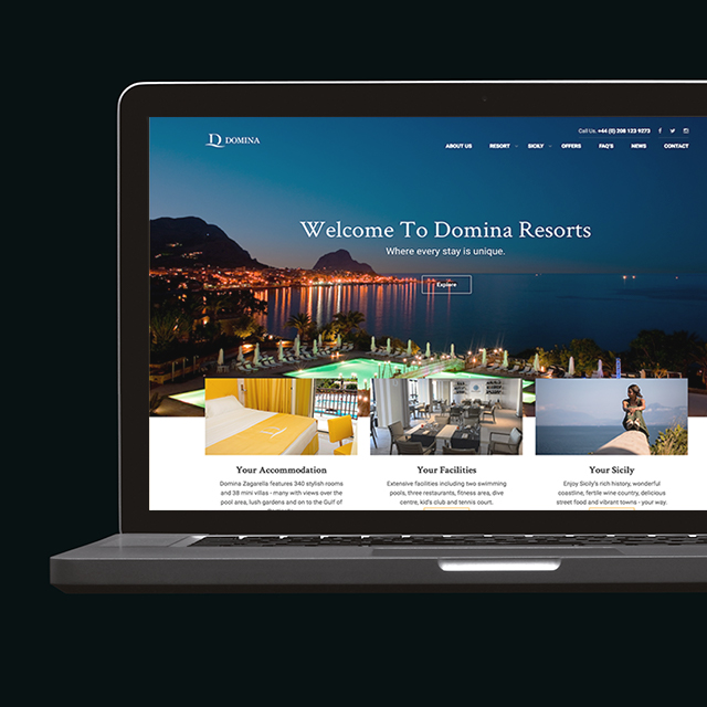 Domina Resorts Website Design